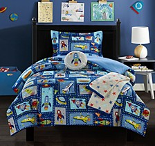 Spaceship 5 Piece Full Comforter Set