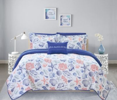 Moselle 8 Piece Queen Bed in a Bag Quilt Set