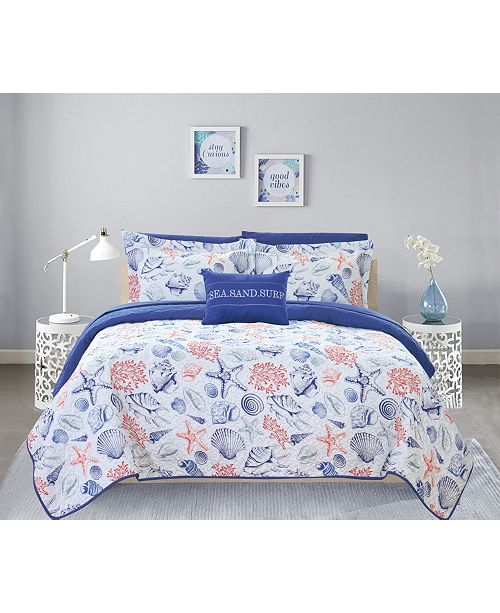 Chic Home Moselle 8 Piece Queen Bed in a Bag Quilt Set