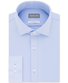 Michael Kors Men's Slim-Fit Non-Iron Performance Knit Print Dress Shirt