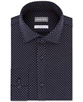 1b25d17e Michael Kors Men's Slim-Fit Non-Iron Performance Knit Neat Print Dress Shirt