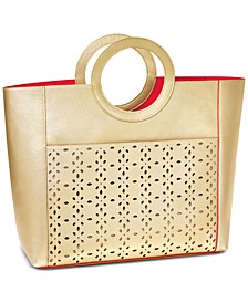 Receive a Complimentary Tote Bag with any large spray purchase from Elizabeth Taylor White Diamonds fragrance collection
