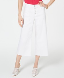 I.N.C. Cropped Wide-Leg Jeans, Created for Macy's