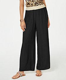 Thalia Sodi Gauze Wide-Leg Pull-On Pants, Created for Macy's
