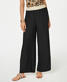 Thalia Sodi Gauze Wide-Leg Pull-On Pants, Created for Macy's