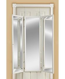 Mirrotek Over The Door, Wall Mounted Triple View 3 Way Bedroom Dressing Mirror
