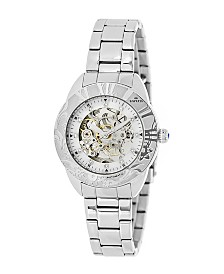 Empress Godiva Automatic Silver White Dial, Stainless Steel Watch 38mm