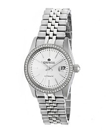 Empress Constance Automatic White Dial, Silver Stainless Steel Watch 37mm