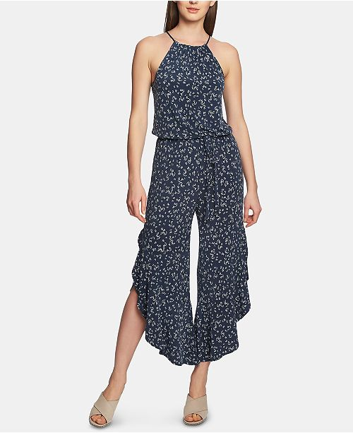 1.STATE Ruffle-Hem Afternoon Bouquet Jumpsuit