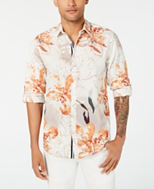 I.N.C. Men's Watercolor Floral Print Shirt, Created for Macy's