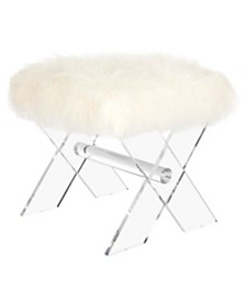 Keely Sheepskin X-Bench, Quick Ship