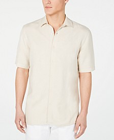 Men's Lagoon Stretch Linen Blend Shirt, Created for Macy's