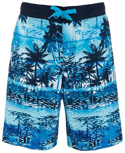 4913b11996229 Laguna Big Boys Palm Tree Printed Swim Trunks & Reviews - Swimwear ...