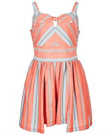Little Girls Striped Walkthrough Romper