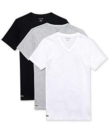Men's 3 Pack Cotton V-Neck Undershirts