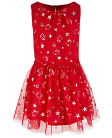 Toddler Girls Foil-Print Mesh Dress, Created for Macy's