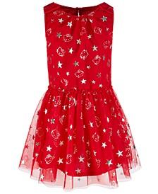 Toddler Girls Foil-Print Mesh Dress, Created for Macy's