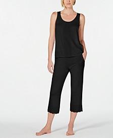 Plus Size Lace-Trim 2pc Pajama Set, Created for Macy's