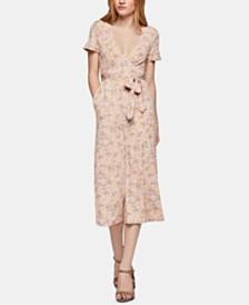 BCBGeneration Cropped Floral-Print Jumpsuit
