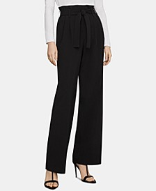 Wide-Leg Paperbag Trousers