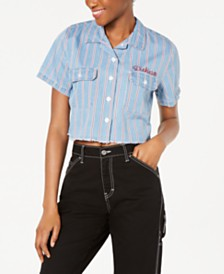 Dickies Short-Sleeve Cropped Work Shirt