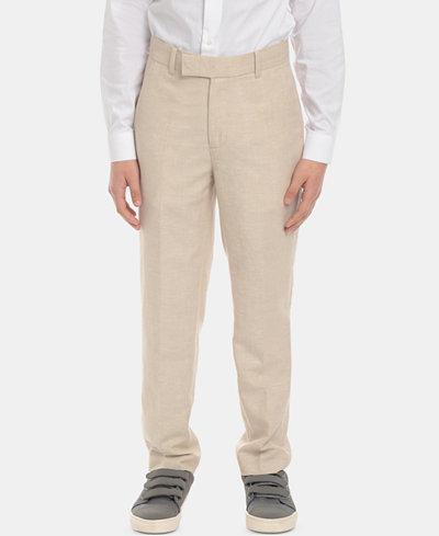 Calvin Klein Big Boys Slim-Fit Suit Pants