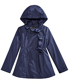 S Rothschild & CO Little Girls Ruffle Rain Jacket