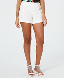 Thalia Sodi Zip-Pocket Shorts, Created for Macy's