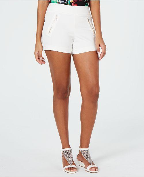 Thalia Sodi Zip-Pocket Shorts, Created for Macy's