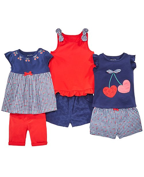 First Impressions Baby Girls Cherry Tops & Shorts Separates, Created for Macy's