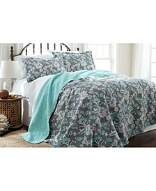 Pct Home Collection 6 Piece Comforter/Coverlet Sets Mavia King