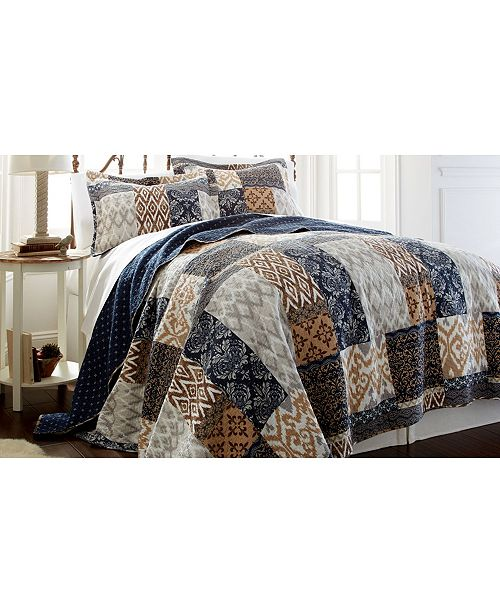 Modern Threads Sanctuary By Pct 100% Cotton 2 Pc Printed Reversible Quilt Sets Laura Twin