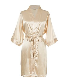 Bride Gold Satin Robe