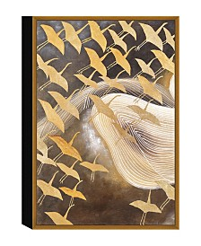 Chic Home Decor Flying Birds 1 Piece Framed Canvas Wall Art Cranes