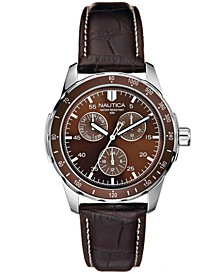 Men's N09550G Wind Seeker Multifunction Brown/Black Leather Strap Watch