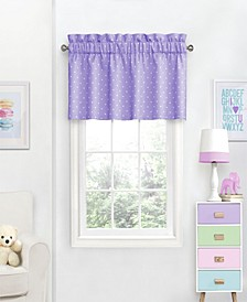"Dots Print 42"" x 18"" Window Valance"