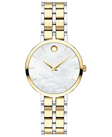 Women's Swiss Kora Two-Tone PVD Stainless Steel Bracelet Watch 28mm