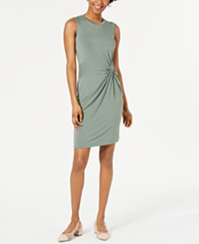 Maison Jules Twist-Front Draped Dress, Created for Macy's