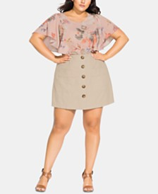 City Chic Trendy Plus Size Mini Skort