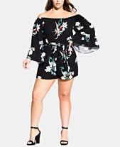 ab83d13e0b73 City Chic Trendy Plus Size Off-The-Shoulder Romper