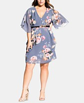 ca9507d165b City Chic Trendy Plus Size Florence Belted Wrap Dress