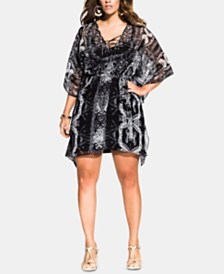 City Chic Plus Size Ankara Tunic