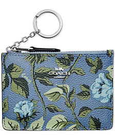 COACH Floral Mini Skinny ID Wallet