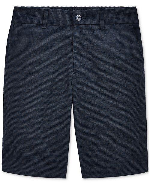 Polo Ralph Lauren Big Boys Slim Stretch Seersucker Shorts