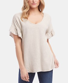Karen Kane Ruffled-Sleeve Top