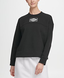 DKNY Sport Logo Patch Sweatshirt