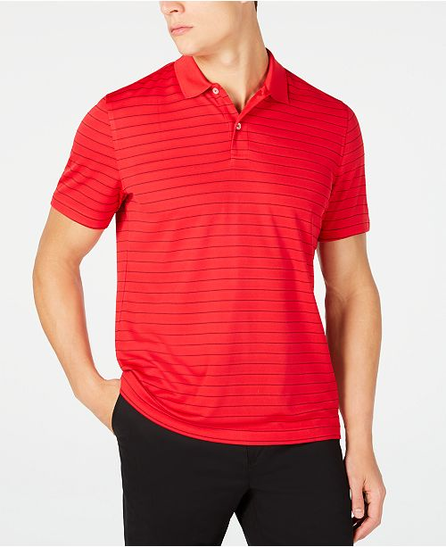 Club Room Men's Stripe Performance Polo, Created for Macy's