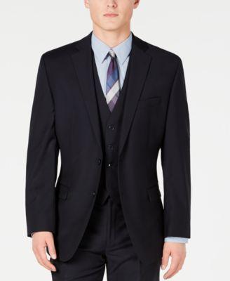 Midnight Blue Stripe Modern-Fit Suit Jacket
