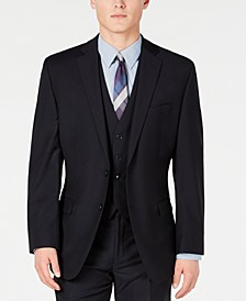 Midnight Blue Stripe Modern-Fit Suit Jacket
