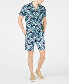 Club Room Men's Fern Print Shirt & Shorts Separates, Created for Macy's